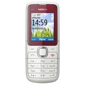 Nokia C1-01; ČERVENO - STŘÍBRNÁ