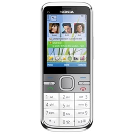 Nokia C5, stříbrná